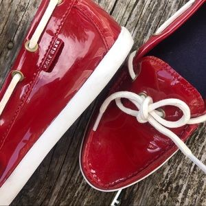 Cole Haan Nantucket Patent Leather Camp Moccasins